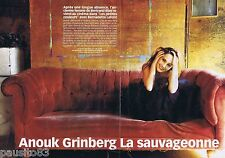 COUPURE DE PRESSE CLIPPING 2002 Anouk Grinberg     (4 pages)