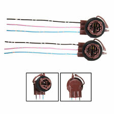 2pcs 3157 4157 Wedge Bulb Female Lamp Socket DRL Brake Turn Light Connectors