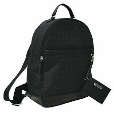 Tommy Hilfiger Large Black Jacquard Th Logo Backpack & Card Pouch Set