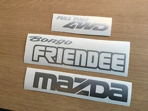 Mazda Bongo 4WD Friendee Tailgate  Replacement decal sticker kit. non oem