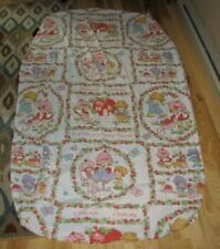 Vintage Strawberry Shortcake Twin Fitted Sheet Craft Fabric