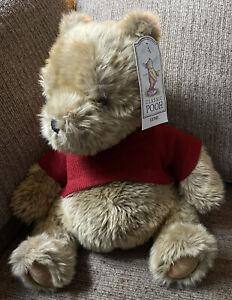 "Classic Pooh Gund Winnie the Pooh Red Sweater Stuffed Animal 12"" 7928 Tag"
