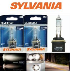 NEW (2) PIECE SYLVANIA Silverstar 893 H27 37.5W Two Bulbs Fog Light  Lamp
