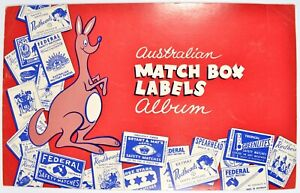 Australian MATCH BOX LABELS Album, Brymay federal SAFETY MATCHES 223x Total