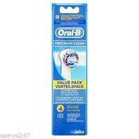 GENUINE Original Oral B Precision Clean Electric Toothbrush Brush Heads 4 Pack