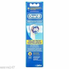 Genuine UK Braun Oral B Precision Clean Spazzolino Elettrico Spazzole Confezione da 4