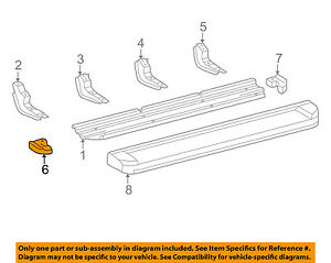 TOYOTA OEM 01-07 Sequoia Running Board Step-Step Pad Grip Cover 517190C010