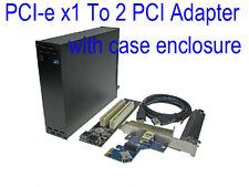 PCI-e x1 To 2 PCI adapter PCI express to dual PCI Riser Card with case box