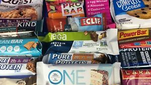 50 Protein/Energy Bar Variety Pack! Quest * One * Met-RX * Power Bar * RX *