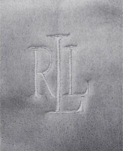 """RALPH LAUREN CLASSIC QUEEN SIZE MICROMINK BLANKET GREY 90"""" x 90"""" New"""