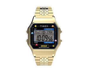 Timex T80 x PAC-MAN 34mm Stainless Steel Bracelet Gold Watch TW2U32000YB