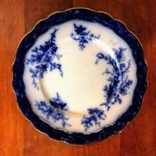 "Antique Stanley Pottery ""Touraine"" Flow Blue Dinner Plate"