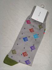 BNWT - PAUL SMITH Mens Spray Diamond & Spots Socks  Light Grey