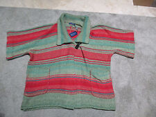 NEW Ralph Lauren Polo Cardigan Poncho Womens Large Southwest Aztec Green Red
