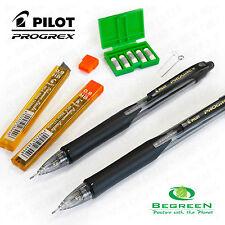 2 x Pilot Progrex Mechanical Pencil 0.9mm +24 Pilot HB Leads & 5 Eraser Refills