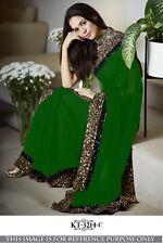 Bollywood  Saree Wedding Ethnic Party Wear Beautiful Pakistani Sari With Blouse