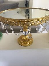 12 Inch / 30cm Gold Colour   Cake Stand With Pendent Charm For Wedding Parties