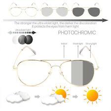Photochromic Adaptive Clear Len Aviator Glasses SunSensor Transition Sunglasses