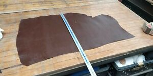 Brown  Hide Veg Tan leather panel 0.7-1mm thickness LOT 1581