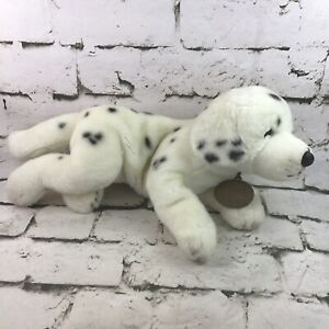 Vintage Russ Berrie Yomiko Dalmation Plush Puppy Dog Lay-Down Stuffed Animal