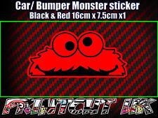 Peeping Peeking Monster Sticker, Car Bike Laptop Door scooter Funny Cute Red