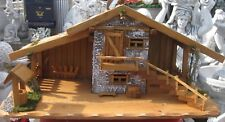 Weihnachtskrippe Krippe Holzkrippe 74 cm Krippenstall Weihnachtsgeschenk Nr 910
