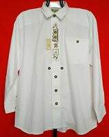 AUTHENTIC GRUBIG TYROL OKTOBERFEST DIRNDL COTTON WHITE MEN'S SHIRT:US17/EU43