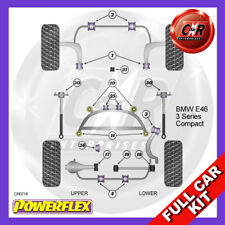 BMW E46 3 Series Compact (99-06) Rear Subframe Inserts Powerflex Kit No Eng Mnts