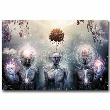 Psychedelic Trippy Art Silk Poster Print Home Wall Stickers Decor 24x36inch  P02