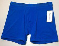 NEW CALVIN KLEIN MEN'S COTTON LOW RISE BOXER  SOLID BLUE NP1784R LARGE