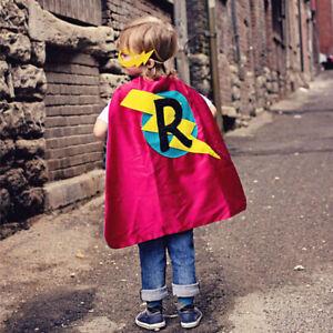 Custom Kids Cape PERSONALIZED SUPERHERO Cape Initial Boy or Girl Birthday Gift
