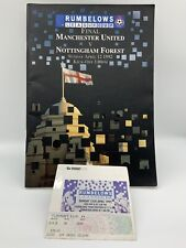 More details for rare manchester united v notts forest 1992 league cup final programme + ticket