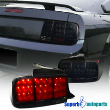 2005-2009 Ford Mustang Sequential LED Tail Brake Lights Glossy Black/Smoke