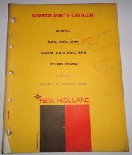 New Holland 922 923 924 924N 925 926 Corn Head Parts Catalog Manual Book NH 3/71