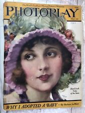 New listing Photoplay Magazine 1923 Art Deco Movie Stars Fashion vintage Hollywood Kodak ad
