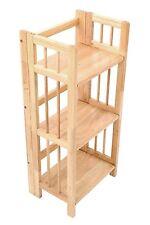 Functional organiser conception pliable caoutchouc-bois 3 niveaux étagère unité