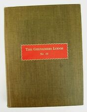 More details for hardback book the grenadiers no 66 craft free masonry lodge history. 1939 nm
