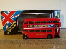 Solido #4400 - Bus Londonien - Maples Furniture - Red Double Decker