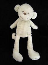 Doudou Grand Singe blanc écru 44 cm Tex Baby Carrefour