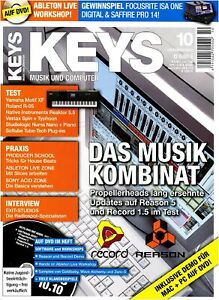 Reason 5 und Record 1.5 im Test - Keys DVD mit Loops Samples Workshops und Tests