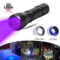 UV Flashlight Black Light 365nm Torch18650 Blacklight 5W Ultra violet LED  Lamp
