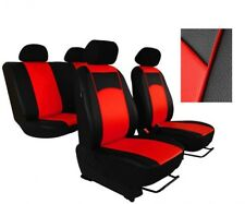 Red Eco-Leather Tailored Full Set Seat Covers Vauxhall Insignia 2017- onward