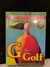 Mystery Jigsaw Puzzle Game #7105 G is For Golf MADE IN USA TDC Games New Sealed