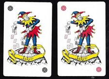 Pair of Joker Swap Playing Card Court Jester.From 1996 Olympic Games Collection.