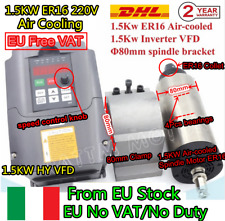 【IT&EU】1.5KW ER16 Air Cooled Spindle Motor+Variable Frequency Drive VFD Inverter