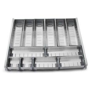 Cutlery Tray Insert Cabinet Kitchen Drawer Storage Organiser Stainless Steel AU