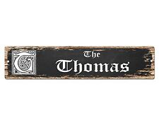 SP0451 The THOMAS'S Family name Plate Sign Bar Store Cafe Home Chic Decor Gift