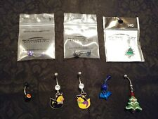 Holiday Belly Button Rings - Set of 8