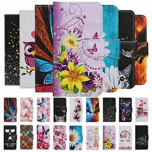 For Samsung Galaxy A10 A30 A70 Case Painted Wallet Flip Card Stand Phone Cover