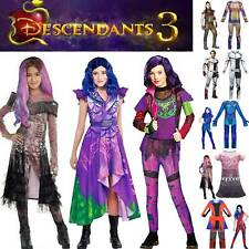 Descendants 3 Evil Audrey Mal Cloas Costume Girl Kid Fancy Dress Cosplay Outfits